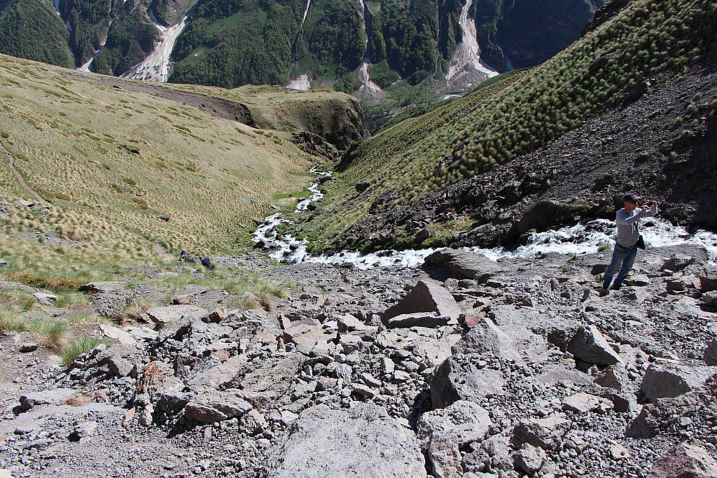 Горная речка от водопада Девичьи косы