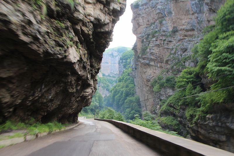 Дорога к большому Чегемскому водопаду