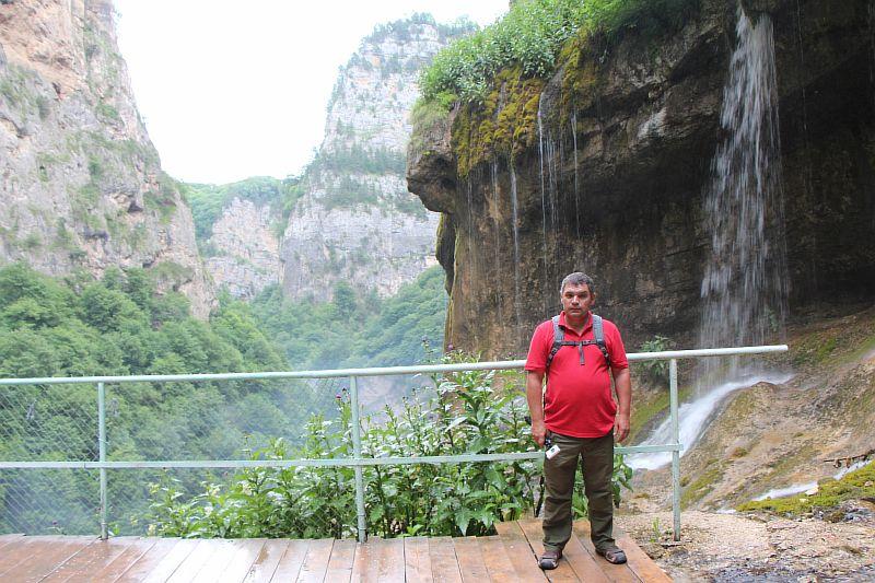 Смотровая площадка на Чегемских водопадах