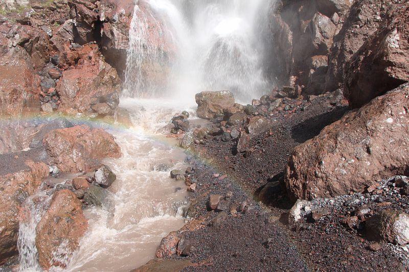 Радуга на водопаде Азау.