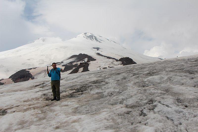 Ледник Гарабаши. Эльбрус.