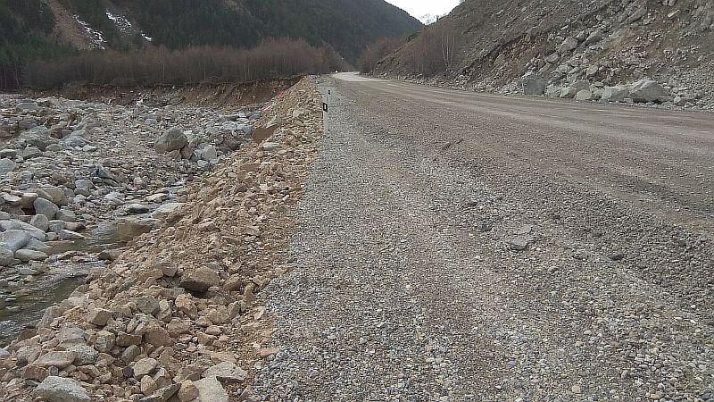 Восстановленный участок дороги