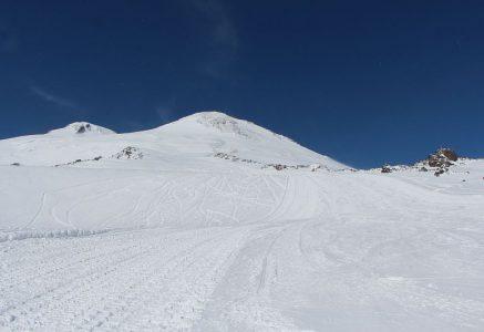 Зимние фотографии со склонов Эльбруса.