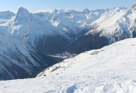 Фотографии Домбая зимой.