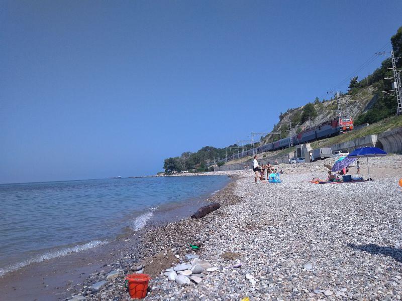Пляж в Магри.