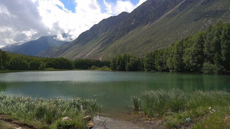 Сток воды из озера