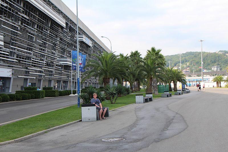 Здание главной трибуны Формулы-1.