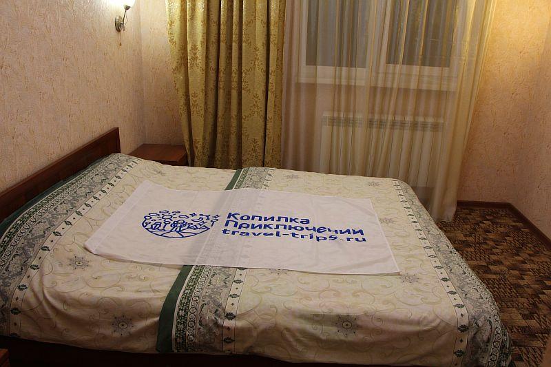 Кровать номере Альпина.