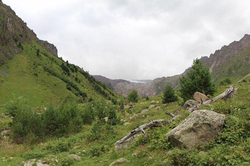 Ледник Терскол.