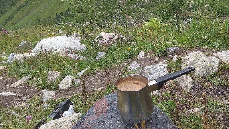 Свареный кофе в турке.