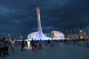 Олимпийский парк шоу фонтанов. Фотографии.