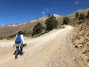 Дорога на перевал.